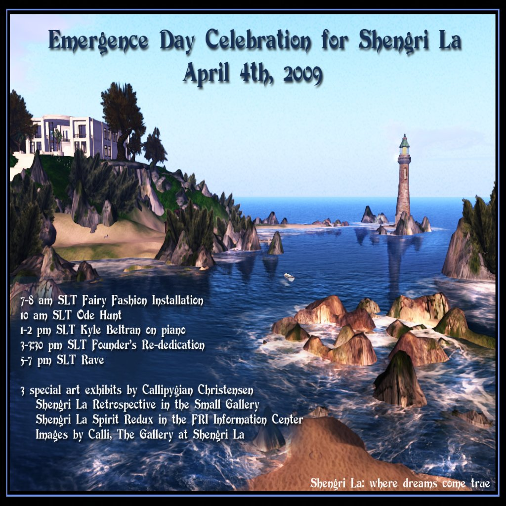 Shengri La Emergence Party, April 4th Festivities