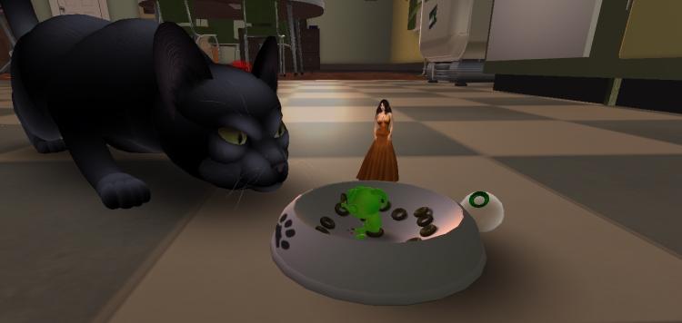 At The Greenies...Large Kitty Kitty!