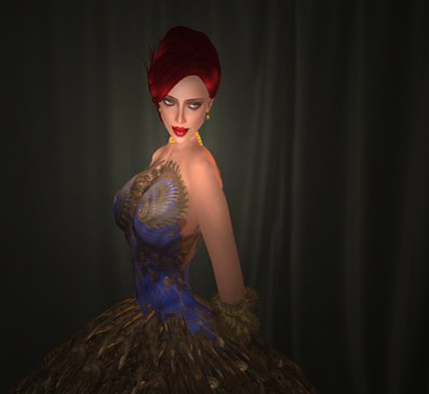 Debutante gown, as created by Shenlei Flasheart
