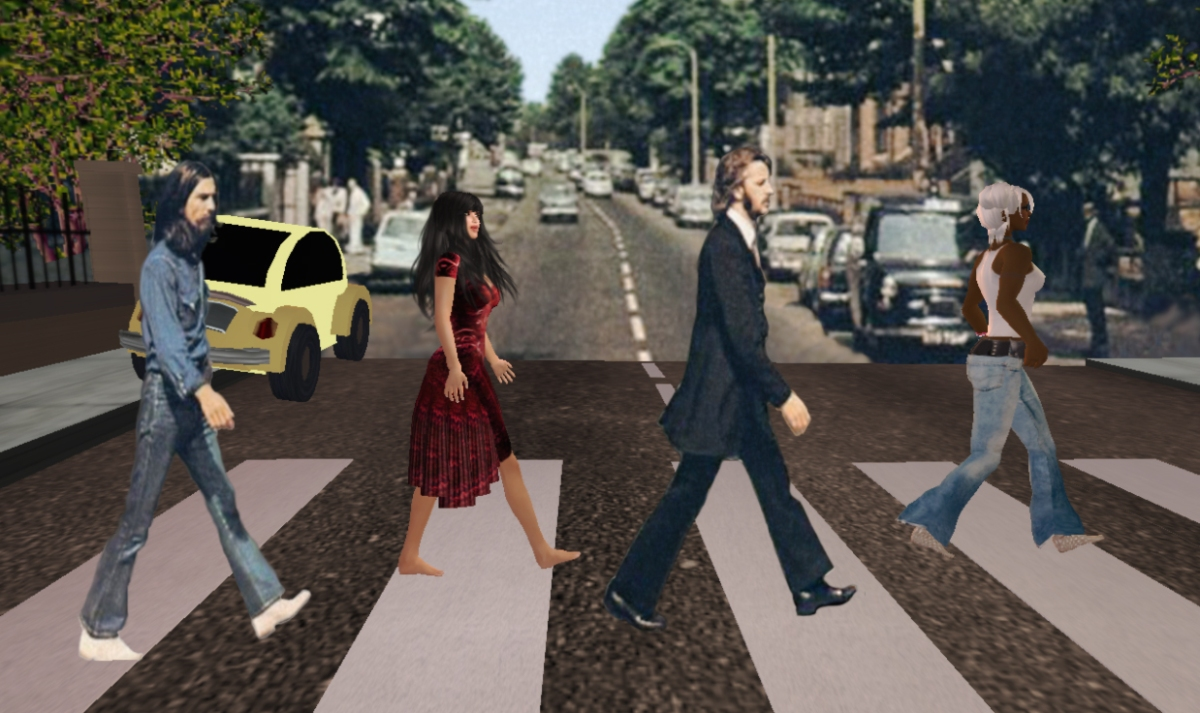 Dale, Ringo, Michele, and George - Abbey Road