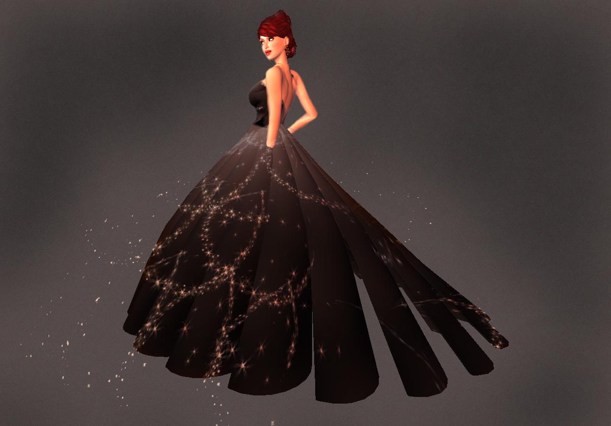 Moonlight gown in Noir from Fantasique