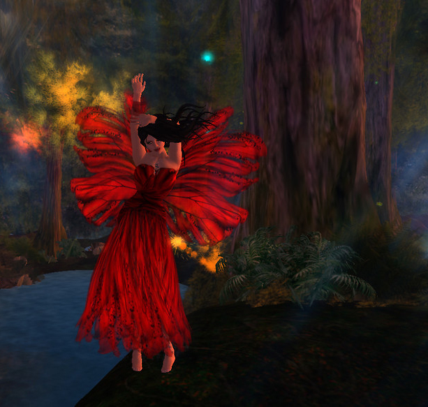 Gown and wings from Pas De Deux by Misteria Loon