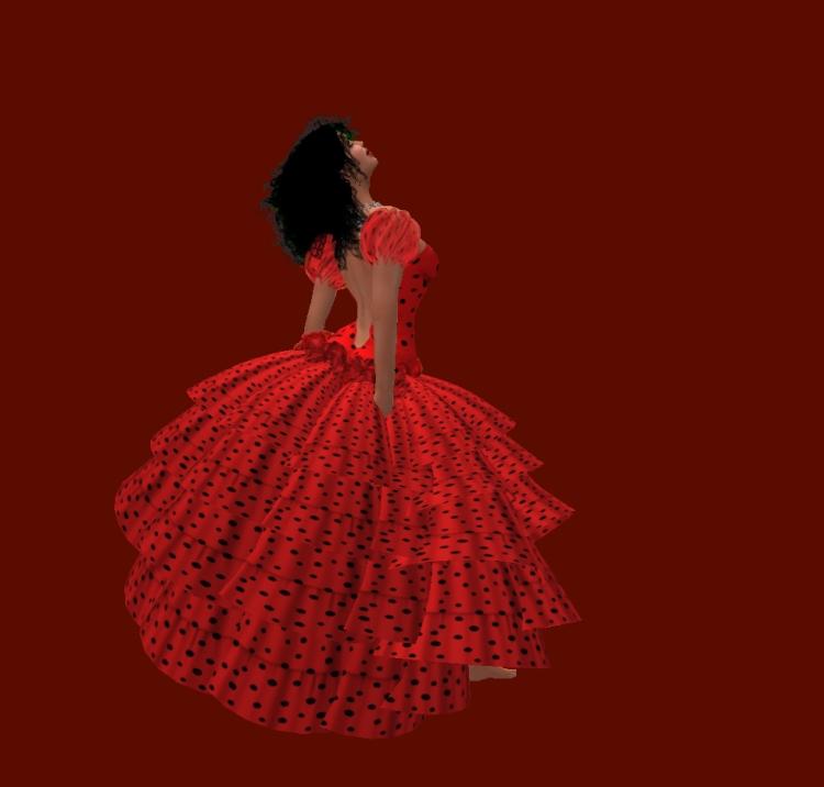 Smoldering Tamale in Misteria Loon's Spanish dress