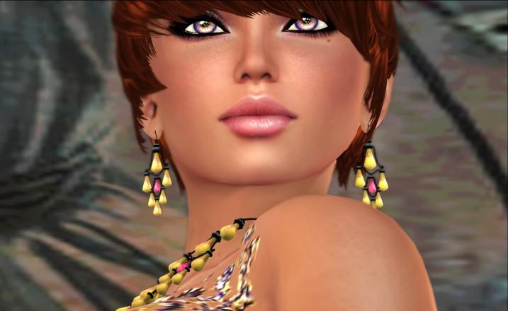 eclectica yellow earrings