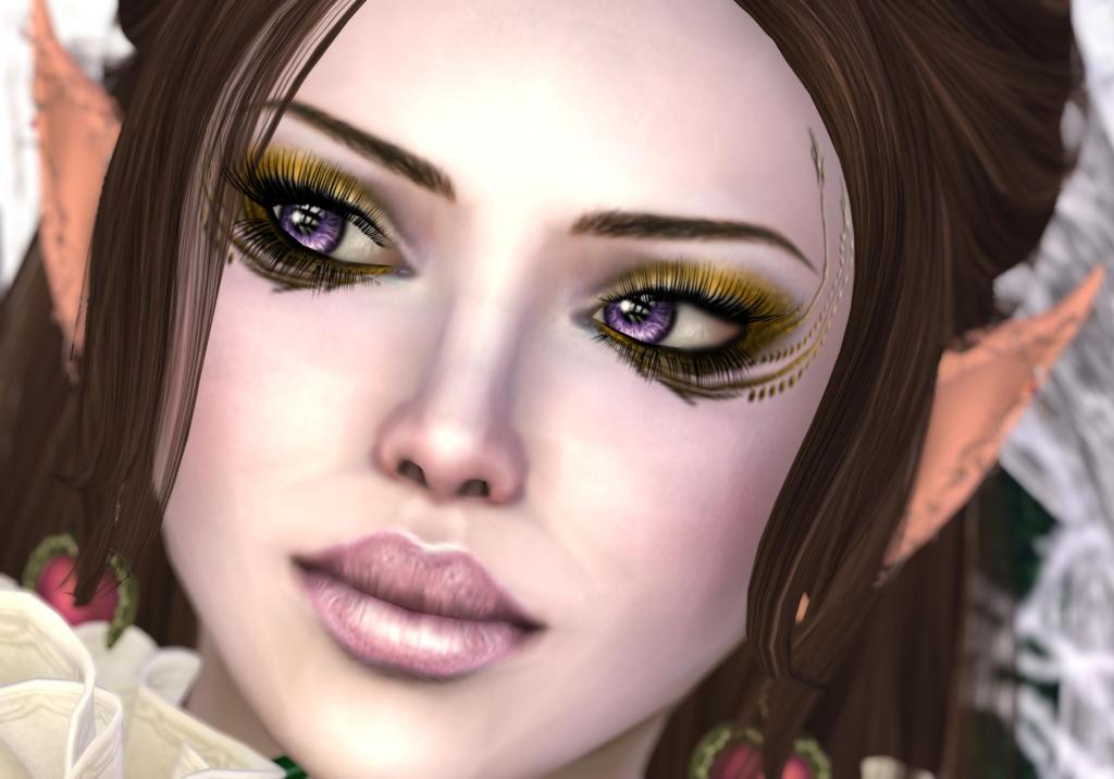 POE6 eyeliner and skin