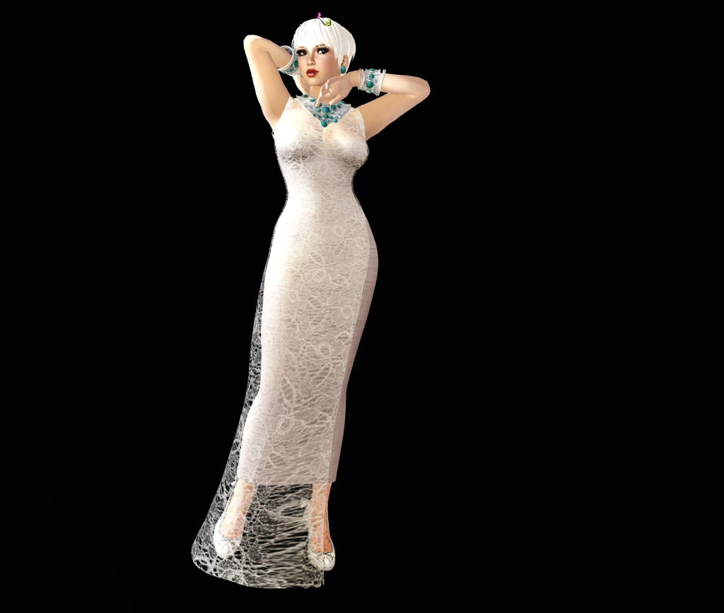 stone love silver and maitreya gown