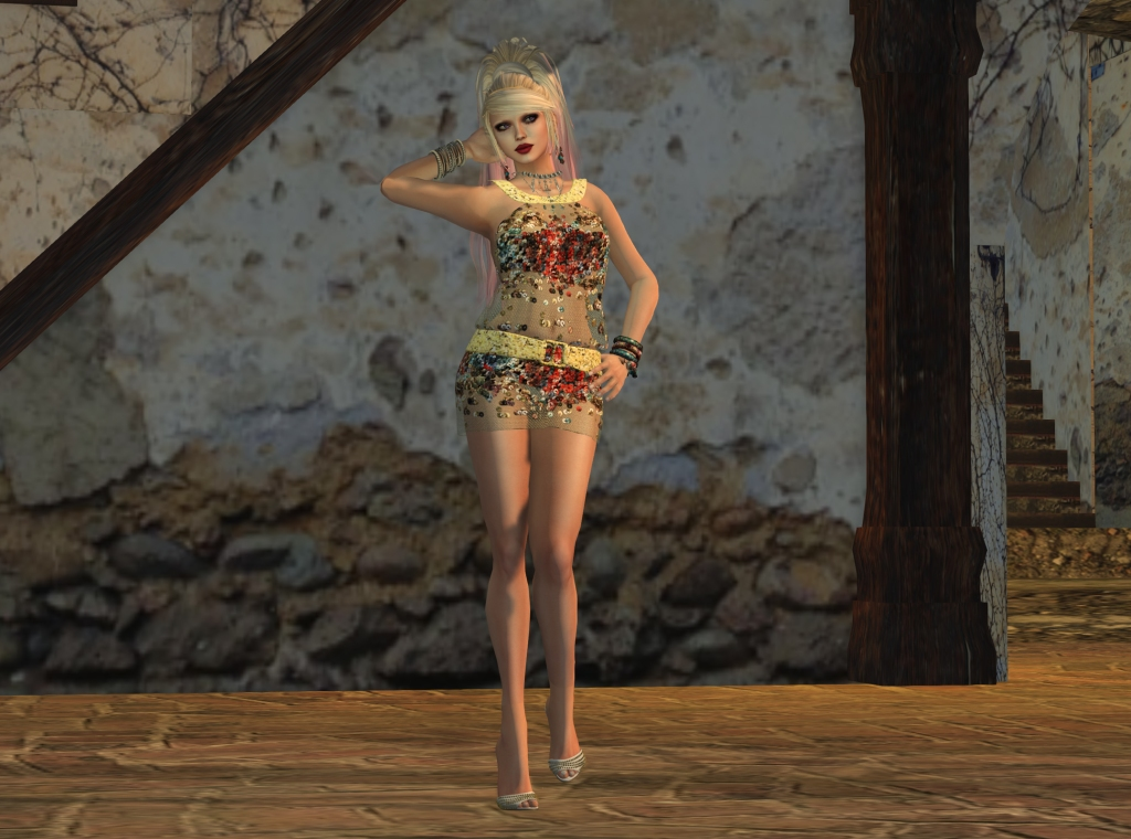 mesh dress_001
